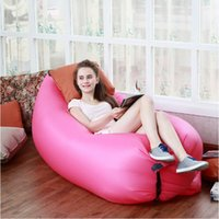 Wholesale Outdoor Inflatable Lounger Nylon Fabric Beach Lounger Convenient Compression Air Bag Hangout Bean Bag Portable Dream Chair air beach bed