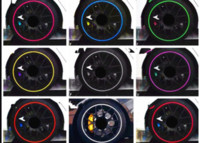 audi black rims - 8m car styling Tire Tyre Rim care protector Hub Wheel Stickers strip for BMW volkswagen VW Opel Toyota Audi Ford car accessories