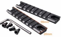 Wholesale 2pcs set DIY Standard mm Rail mm length Weaver Base Picatinny RIS Short Rail Right Left Curve Underside Lead Rail G36 G36C