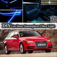 Wholesale interior Ambient Light Tuning Atmosphere Fiber Optic Band Lights For Audi A3 S3 RS3 Door Panel illumination Refit