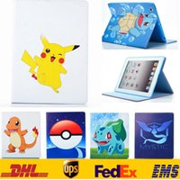 ball dust - New Poke Go Pikachu Elf Ball Case PU Leather Stand Bags Pouch IPad Mini quot Air Ipad quot Tablet PC Flip Cover SZ I01