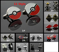 Wholesale Retro Adult Men Cuff Links Cartoon One Piece Star Wars Captain America Naruto Shirt Tie Clasps Cufflinks Tacks Jewelry Gifts