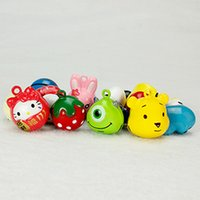 ID Tags, Bells and Charms bell bags - Cute Animal Bells Colorful DIY Jingle Bells Bronze Color Cartoon Bell Pet Bag Chain Pendant