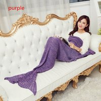 Wholesale Mermaid Tail Blanket Super Soft kid blanket cartoon Sofa Blanket air condition blanket siesta blanket multicolor sizes available