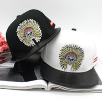Wholesale In August the new Korean hip hop flat brimmed hat embroidery tribe baseball cap male tide hip hop hip hop cap