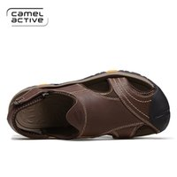 beach camel - 2016 camel active comfortable Men s Beach Sandals Upstream Outdoor Sports Shoes khaki brown Breathable Open Toed Walking Shoes