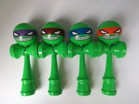 Wholesale DHL New Inch ninja turtle Kendama Big size cm Emoji pattern Kendama Ball Japanese Traditional Wood Game Toy Education Gift E945