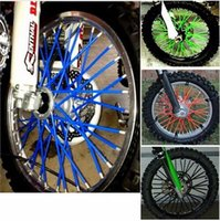 Wholesale 72pcs Universal Motorcycle Dirt Bike Enduro Off Road Wheel Rim Spoke Shrouds Skins Covers KTM For HONDA for YAMAHA for KAWASAKI