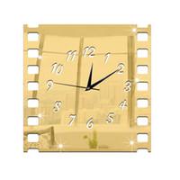 acrylic mirror film - Fashion Home Decoration Roll film Wall Clock Fashion Acrylic Mirror Wall Decal Art Stickers Decals Wall Clock DIY Clock