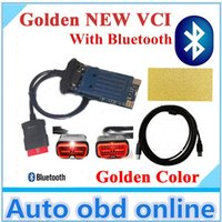 Wholesale NEW Color r3 newest Gold cdp tcs pro with BLUETOOTH for tcs CDP PRO new vci for cars and trucks diagnostic