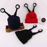 antenna springs - 2016 Korean new winter children antenna baby warm cap super adorable children insect tide wool hat