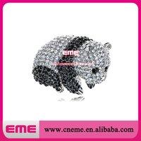 baby panda cubs - Fashion Silver Tone Black White Chinese Baby Panda Bear Cub Brooch Pin