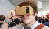 Wholesale Google Cardboard VR head mounted mobile virtual reality d glasses really magic Google storm magic mirror