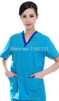 Wholesale Rushed Surgical Cap Vestidos Femininos Jalecos Summer Women s Hospital Surgical Or Medical Scrub Clothes Sets Short