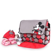 Wholesale Light Weight Mickey Mouse And Winnie The Pooh Style Microfiber Cute Diaper Bag Cheap Price Baby Bag For Travel
