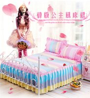 Wholesale Sheet Twill Korean Princess four piece set Korean luxury duvet cover bedding bed skirts
