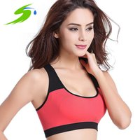 Wholesale Fitness Sports Bra Top Breathable Shockproof Sujetador Deportivo Yoga Clothing GYM Running Crop Top Women Shirts Sd006