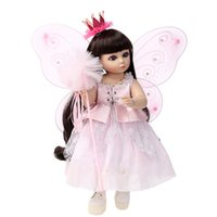 best newborn products - 2016 new Handmade cm BJD SD Full Silicone Reborn Baby Dolls with Cute Flower Dress Best Star Product Toys to Childrend