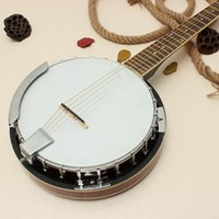 banjo instrument - New string Banjo Exquisite Design Professional Musical Banjo Sapelli Notopleura Wood Alloy Musical Instruments Gift