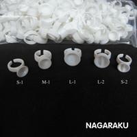 Wholesale NAGARAKU Eyelash Extension Glue Rings Glue Holder Tool Kit Set