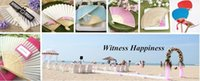 Wholesale White Elegant Folding Silk Hand Fan with Organza Gift bag Wedding Party Favors Gift