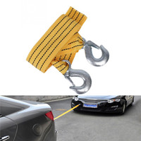 Wholesale Road Emergency Trailer Rope Tow Line Strap Hooks Hook Car Tow Rope Car Towing Trailer Cable Belt With Hook For Heavy Duty