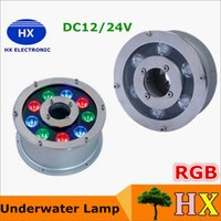 Wholesale 6W W W W RGB Led pool Light AC V V Underwater Lights Fountains Led Waterproof IP68