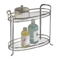 bathroom standing towel racks - Axis Free Standing Bathroom Storage Shelves for Towels Soap Candles Tissues Lotion Accessories Tiers Chrome