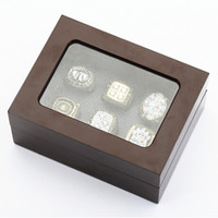 Wholesale Factory price high quality six slots wooden display ring box cm drop shipping