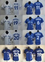 Wholesale 2016 Women Toronto Blue Jays Jose Bautista Josh Donaldson Troy Tulowitzki Kevin Pillar Stitched Womens Cool Baseball Jerseys