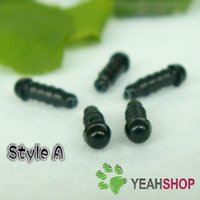 Wholesale 4 mm Black Safety Eyes Plastic Eyes Doll Eyes Solid Color Eyes Toy Eyes Animal Eyes Pairs