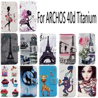 archos protective case - For ARCHOS d Titanium Fashion Protective Cover Skin Pouch With Card Slot PU Leather Case Phone Case