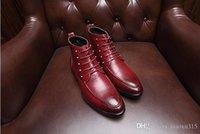 Wholesale 2016 Fashion Genuine Leather Men Boots Leather Men Ankle Boots Super Warm Men Winter Boots Casual Leather Men Martin boots D86