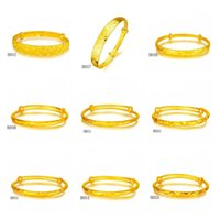 asian bust - 6 pieces a mixed style fashion bust nodels women s yellow gold bangle Phoenix wave diamond k gold Bracelet EMKBH6
