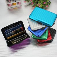 Wholesale Hot High Quality Aluminum Credit Card Holders Bank Cards Aluma Wallet for Women Men Hot Sale AA