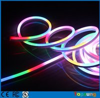 Wholesale 10m LED Digital Neon Flex IP65 Waterproof mm DC24V RGB Neon Decoration Light Strip Color Changeable Holiday Lighting