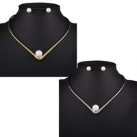 amazon pearl - Amazon N4294 explosion models Europe necklace pearl necklace set individual metallic Choker