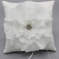 Wholesale Satin Floral Ring Bearers Ring Pillows Special Wedding Ceremony Accessory Unique Bridal Ring Bearers Pillows Ring Holders DL B0003