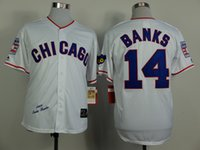 banks number - Chicago Cubs Mens Jerseys Ernie Banks White Throwback Baseball Jersey Name Number All Stitched