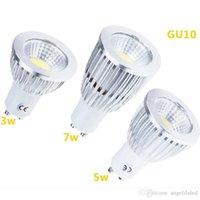 Wholesale COB LED GU10 Bulbs Light LED Warm White Pure White V W W W Lamp Lights LED Spotlight