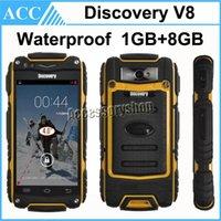 Actualización Descubrimiento V8 impermeable del teléfono de 4,0 pulgadas Android 4.2 MTK6572 Dual Core 1 GB de RAM de 8 GB ROM de doble SIM WIFI 5.0MP 3G WCDMA teléfono al aire libre