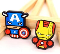 Wholesale 2016 Newest avengers alliance Fridge Magnet Cute Cartoon Fashion resin Iron man Funny Refrigerator Toy BSH69