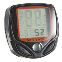 Wholesale Bike Computer LCD digital waterproof MTB mountain bike Odometer Velometer bicycle Cycling speedometer Stopwatch with Bracket order lt no tra