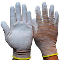 assembly gloves - Palm Coating PU Glove Protective Labor Glove For Electronic Industry Assembly Anti static Safety Working Glove Labor Insurance PU Glove