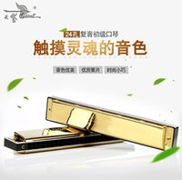 Wholesale The hole tremolo harmonica C children adult beginners entry to practice playing musical instruments