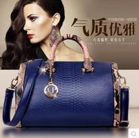 luxury leather handbags - 2016 Luxury handbags Women Handbag cheap Genuine Leather Bags snakeskin Leather Handbags Shoulder Bags Classic Bag Cowhide Bolsas Totes