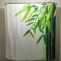 bamboo curtain rings - 2016 New Fashion Bamboo Family Bathroom Shower Curtain Simple Polyester Ring Pull Easy To Install
