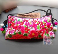 Wholesale Hot Embroidered bags national trend handmade embroidered messenger bag double faced embroidery