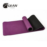 Wholesale QIAN YOGA mm TPE Double Layer Yoga Mat Non Slip Mat For Beginner Environmental Fitness Gymnastics Mats