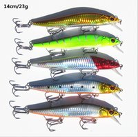 Wholesale 14 cm g Fishing Lure Minnow Hard Bait with Fishing Hooks Fishing Tackle Lure D Eyes HJIA271